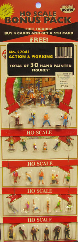 Model Power 57041 HO, Action and Working Figures, 30 Pieces