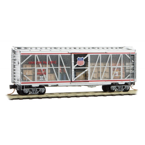 Micro-Trains 020 00 157 N 40' Standard Box Car, Single Door, Impact Car, Union Pacific, UP 195220