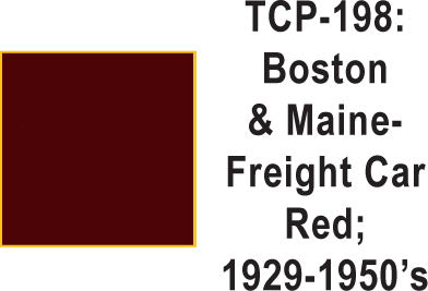 Tru Color TCP-198 Boston and Maine 1929-50's Frt. Car Red 1 ounce