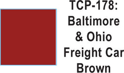 Tru Color TCP-178 Baltimore and Ohio Freight Car Brown Paint 1 ounce