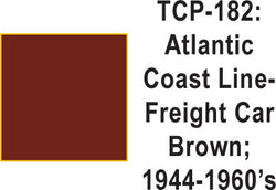 Tru Color TCP-182 Atlantic Coast Line 1944-60s Freight Car Brown Paint 1 ounce