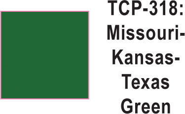 Tru Color TCP-318 Missouri Kansas Texas Green Paint 1 ounce