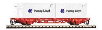 Piko 47718 TT Flat Car with 2 Containers Hapag Lloyd