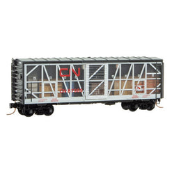 Micro-Trains 073 00 250 N 40' Standard Box Car, Impact Car, CN, 87989