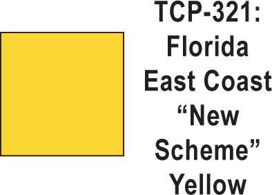 Tru Color TCP-321 Florida East Coast, New Scheme (Modern) Yellow Paint 1 ounce