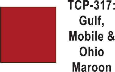 Tru Color TCP-317 Gulf Mobile and Ohio Maroon Paint 1 ounce