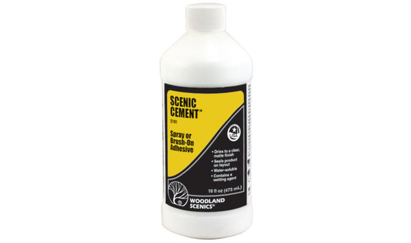 Woodland Scenics 191 Scenic Cement, Spray or Brush-On Adhesive (16 fluid ounce)