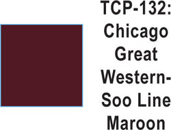 Tru Color TCP-132 Chicago Great Western, SOO Maroon Paint 1 ounce