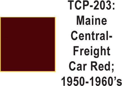 Tru Color TCP-203 Maine Central 1930-50's Frt. Car Red 1 ounce
