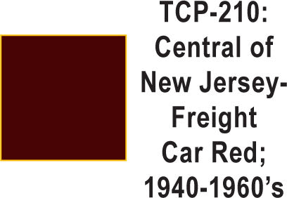Tru Color TCP-210 Central of New Jersey 1940-60's Freight Car Red Paint 1 ounce