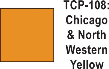 Tru Color TCP-108 Chicago and North Western Yellow Paint 1 ounce