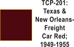 Tru Color TCP-201 Texas and New Orleans 1949-55 Frt. Car Red 1 ounce