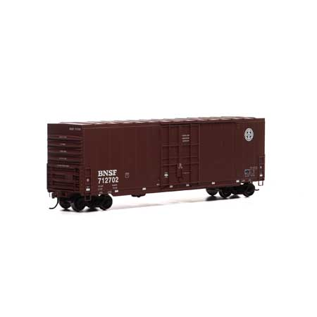 Roundhouse 1658 HO, 50' High Cube Smooth Side Box Car, BNSF, 712779