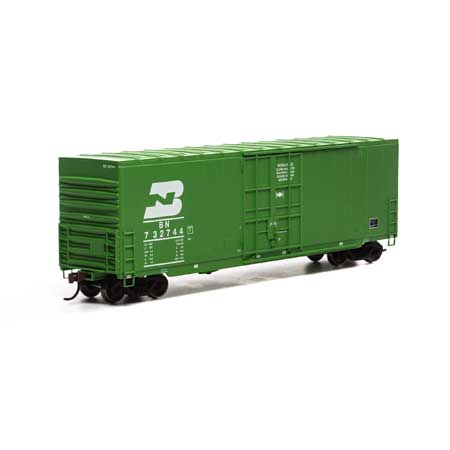 Roundhouse 1675 HO, 50' High Cube Smooth Side Box Car, Burlington Northern, BN, 732744