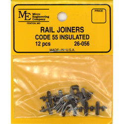 Micro Engineering 26-056 N, Code 55, Plastic Insulated Rail Joiners