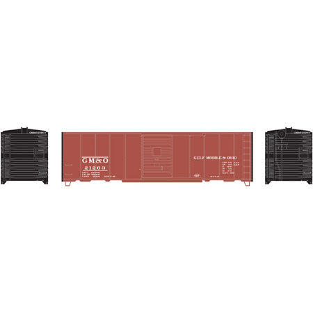 Athearn Roundhouse 73551 HO, 40' Box Car, Gulf Mobile Ohio, GMO, 21263