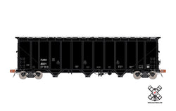 Scale Trains 30334 HO, Thrall 5750cf Carbon Black Covered Hopper, Rivet Counter, FURX, 6021