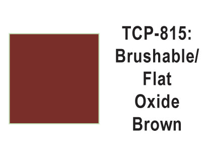 Tru-Color TCP-815 Flat Oxide Brown Paint 1 Fluid Ounce