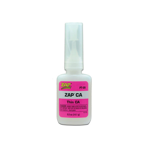 ZAP PT-09 Zap CA, Thin CA, Adhesive Glue .5oz (14.1grams)