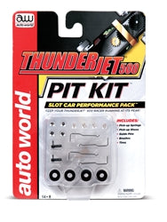 Auto World 103 HO Slot Car Thunder Jet 500 Pit Kit, Performance Pack includes Spring, Pickup Shoes, Brushes, Guide Pins, and Tires