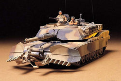 Tamiya 35158, 1:35 Scale, United States M1A1, Abrams, with Mine Plow, Plastic Model Kit