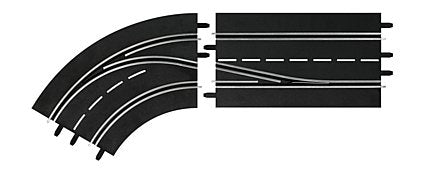 Carrera 30362 Digital 1:24, Digital 1:32, Lane Change Curve, Left, In to Out