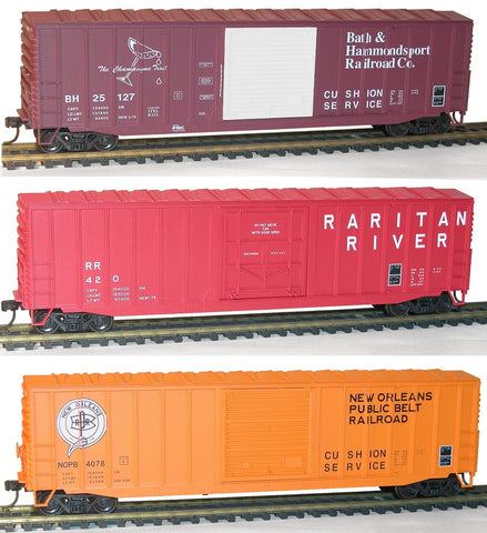 Accurail 8090 HO 50' Exterior-Post Modern Boxcar Per Diem 3-Pack Kit