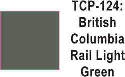 Tru Color TCP-124 British Columbia Rail Light Green Paint 1 ounce