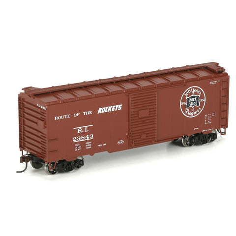 "Athearn 70071 HO 40' Youngstown Door Box Car, Rock Island ""100 Years"" #23843"