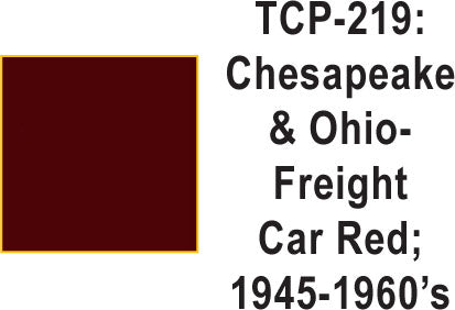 Tru-Color TCP-219 Chesapeake and Ohio Freight Car Red 1 Fluid Ounce