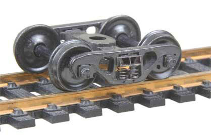 "Kadee 558 HO Self Centering Barber S-2 Roller Bearing Truck, 33"" Ribbed Backed Wheels"
