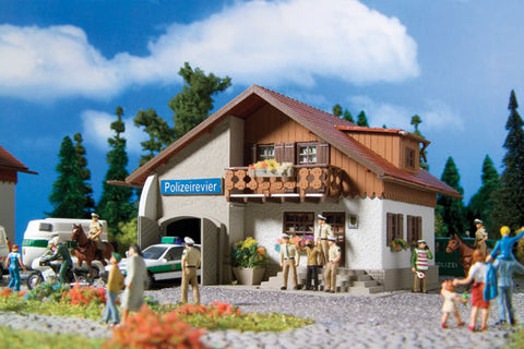 "Vollmer 3747 HO Police Station ""Polizeiwache 110"", (120 pieces, 5 Colors)"