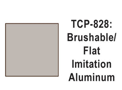 Tru-Color TCP-828 Flat Imititation Aluminum Paint 1 Fluid Ounce