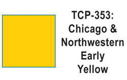 Tru Color TCP-353 Chicago North Western, CNW, Early Yellow, Paint 1 ounce