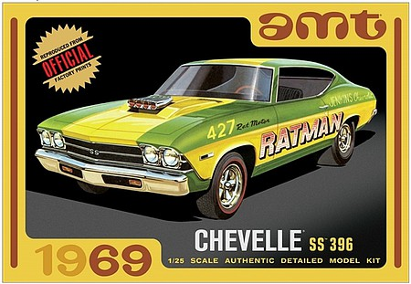 AMT 1138 1:25 Scale, 1969 Chevy Chevelle SS 396, Model Kit