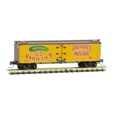 Micro Trains 518 00 630 Z 40' Wood Reefer, Heinz Yellow Series Car 1, HJHCo, 486