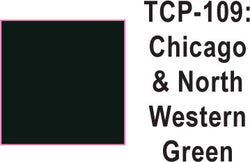 Tru Color Paint TCP-109 Chicago and North Western Green Paint 1 ounce