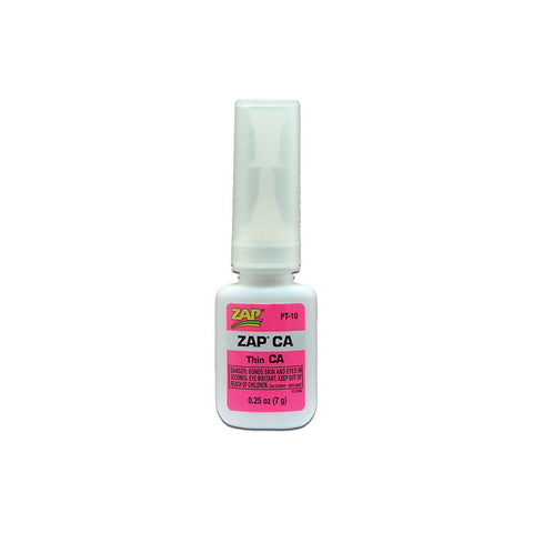 ZAP PT-10 Zap CA, Thin CA, Adhesive Glue .25oz (7grams)