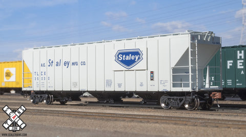 Scale Trains SXT30749 HO, Rivet Counter, PS-2CD Covered Hopper, Staley, TLCX, 35093