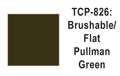 Tru-Color TCP-826 Flat Pullman Green Paint 1 Fluid Ounce