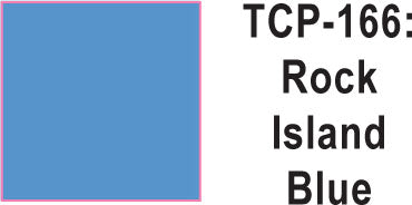 Tru Color TCP-166 Rock Island Blue Paint 1 ounce