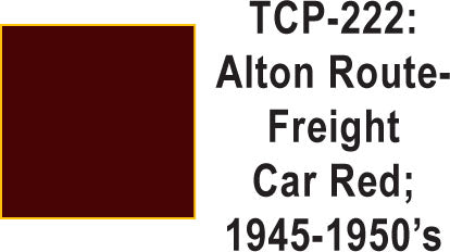 Tru-Color TCP-222 Alton 1945-60's Freight Car Red 1 fluid Ounce