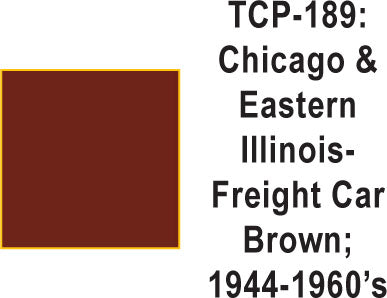 Tru Color TCP-189  Chicago and Eastern Illinois 1944-60s Freight Car Brown Paint 1 ounce
