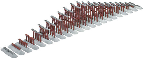 Lionel 6-12037 O FasTrack Graduated Trestle Set, 22 Pieces