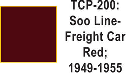 Tru Color TCP-200 SOO Line 1949-55 Frt. Car Red 1 ounce