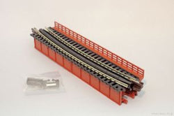 Kato 20-465 N Deck Plate Girder Bridge, Curved, Red, Unitrack