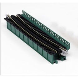 Kato 20-466 N Deck Plate Girder Bridge, Curved, Green, Unitrack