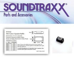 SoundTraxx 810162, Mini Cube 3 Speaker, 12mm x 5mm x 3mm