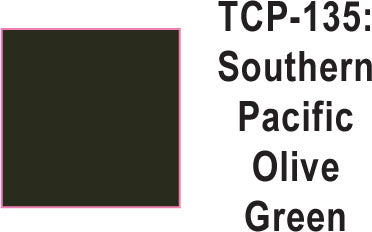 Tru Color TCP-135 Southern Pacific Dark Olive Green Paint 1 ounce