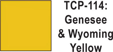 Tru Color TCP-114 Genesee and Wyoming Yellow Paint 1 ounce